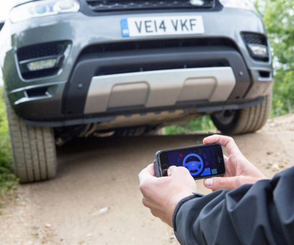 Land Rover Driven with a Smartphone Remote Control