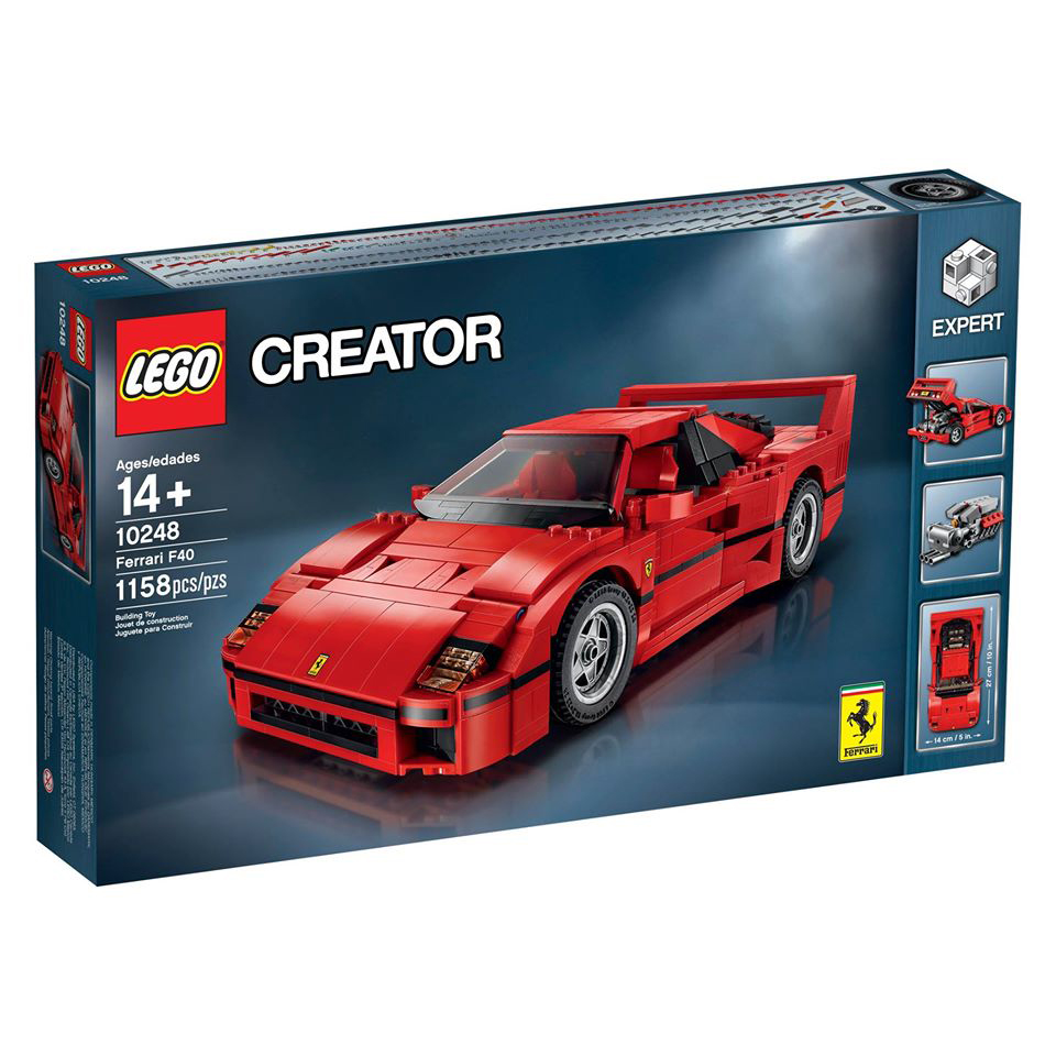 LEGO Produces Incredibly Detailed Ferrari F40 Model