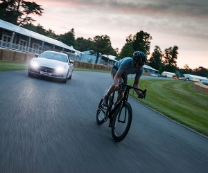 It's Man vs. Maserati at Goodwood