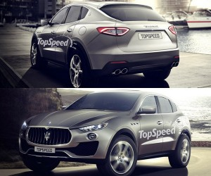 Maserati Levante SUV Rendered