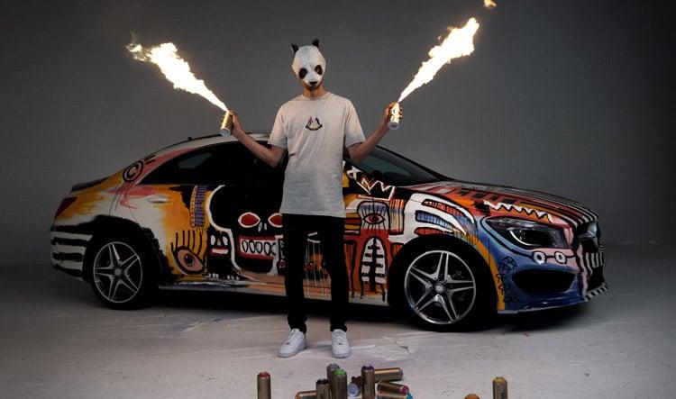 Spray Paint Car Art