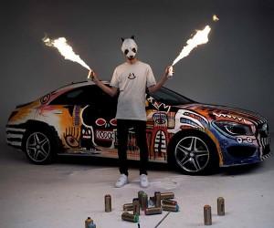 Rapper + Spray Paint + Mercedes = Rolling Art