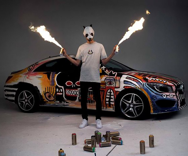 Rapper + Spray Paint + Mercedes = Rolling Art