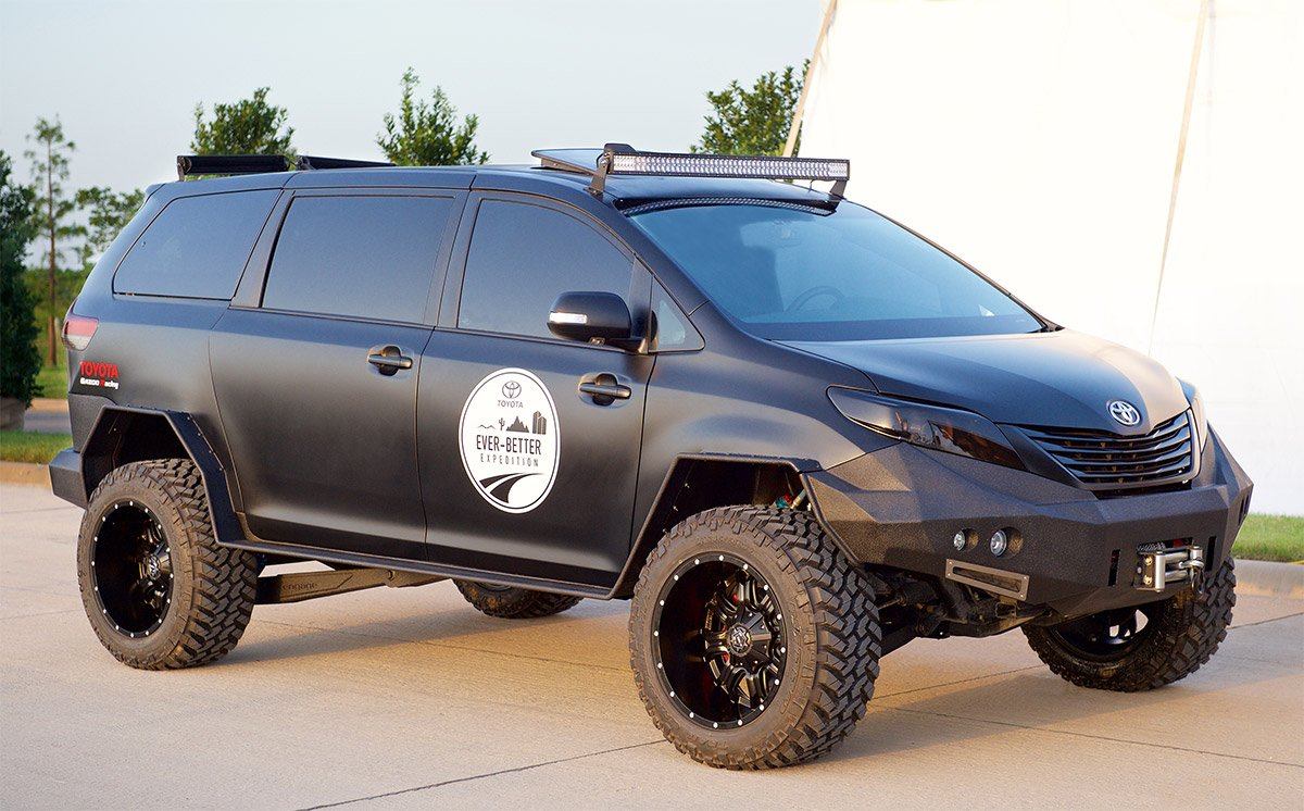 Toyota's Badass Black Minivan Tempt Dads Everywhere - 95 ...