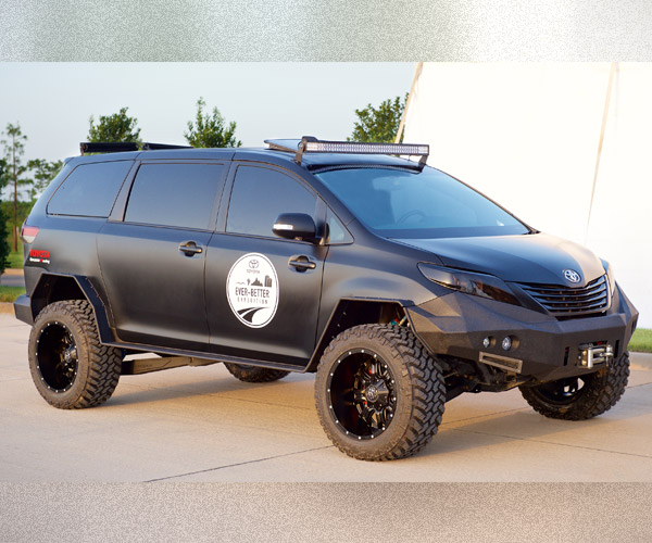 Toyota's Badass Black Minivan Tempt Dads Everywhere