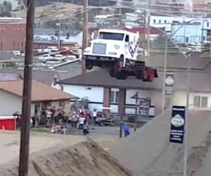 Big Rig Soars 166-feet to Set World Record