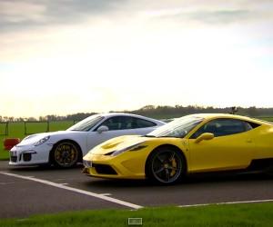 Porsche 911 GT3 & Ferrari 458 Speciale Duke it Out