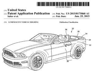 Ford Files Patent App for Luminescent Car Trim