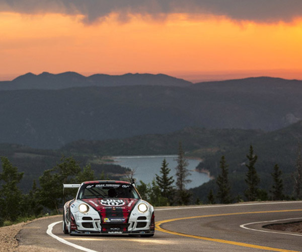 Fly up Pikes Peak in a Porsche GT3 Cup Turbo Racer