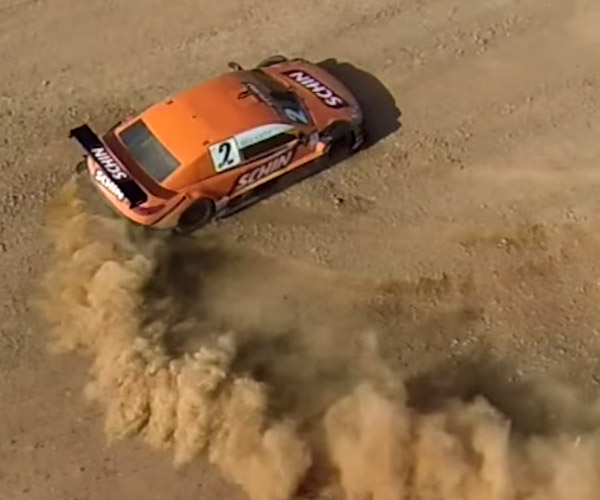Brazilian Stock Cars Drive on Dirt Track
