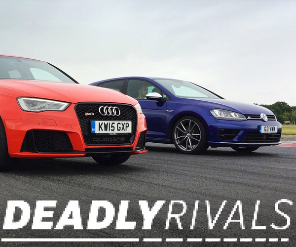 EVO Pits Audi RS3 Against VW Golf R