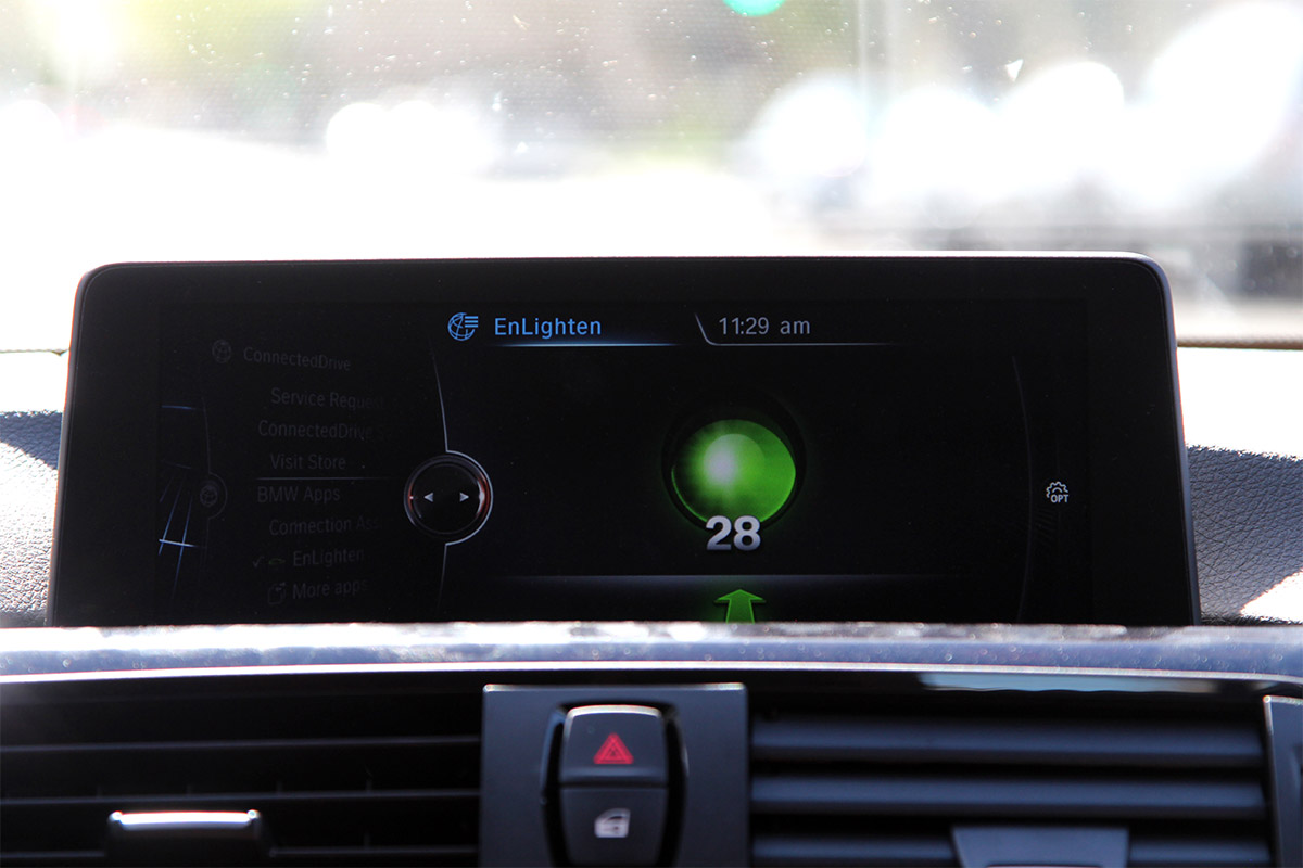BMW EnLighten gives you a Stop Light Countdown