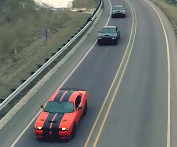 A Trio of Hellcats Create a Muscle Car Ballet