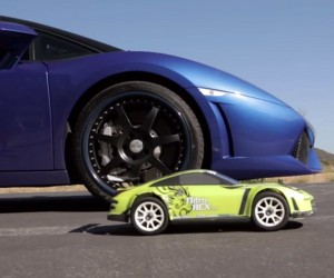 R/C Car Drag Races Real Sports Cars
