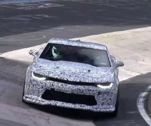 Camo Clad 2017 Camaro ZL1 Spied at Nürburgring