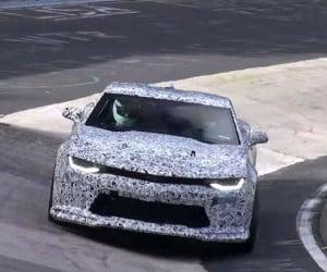 Camo Clad 2017 Camaro ZL1 Spied at Nürburgring