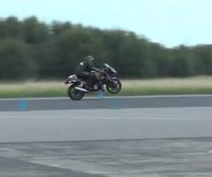 Man Pops World's Fastest Wheelie