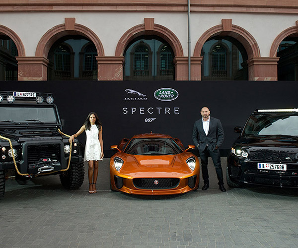 Land Rover and Jaguar's Evil Bond Cars Unveiled