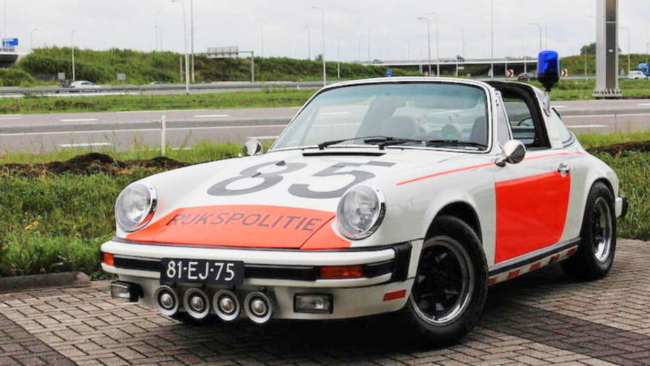 1974 Porsche 911 Targa Police Car Heads To Auction 95 Octane