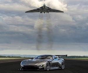 Aston Martin Vulcan Track Car Meets Vulcan Bomber Namesake