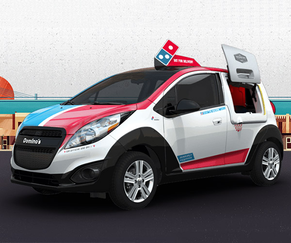 Domino's Unveils DXP Pizza Delivery Vehicle