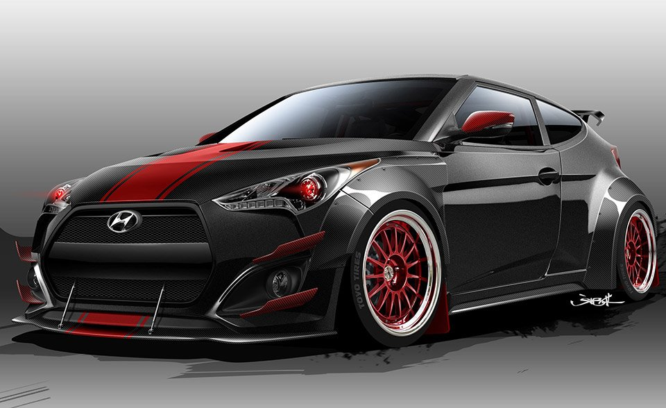 Hyundai Teases Hopped up 500hp Veloster for SEMA