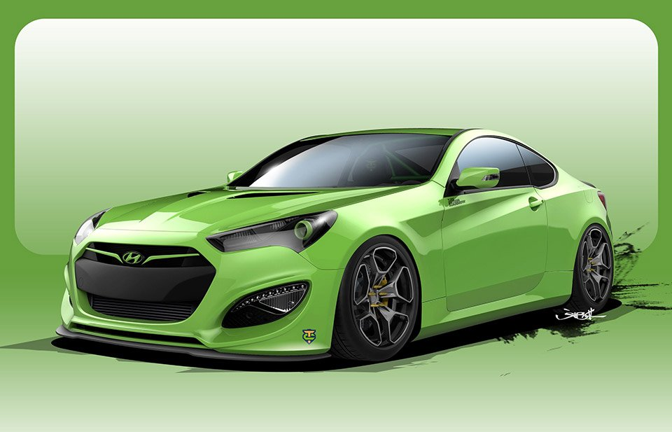 Hyundai Genesis TJIN Edition is a 500hp Green Meanie