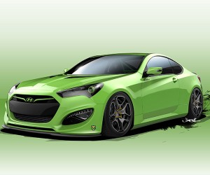 Hyundai Genesis TJIN Edition is a 500hp Green Meanie