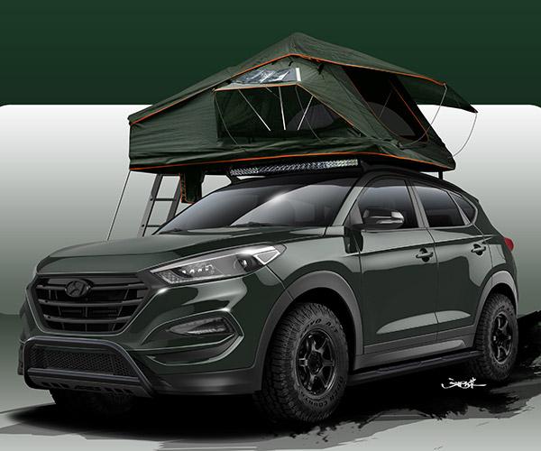 Hyundai Tucson Adventuremobile Has Solar Panels and a Roof Tent