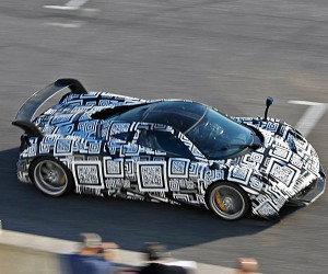 Pagani Huayra Spied with Big Wing and Camo at the Track