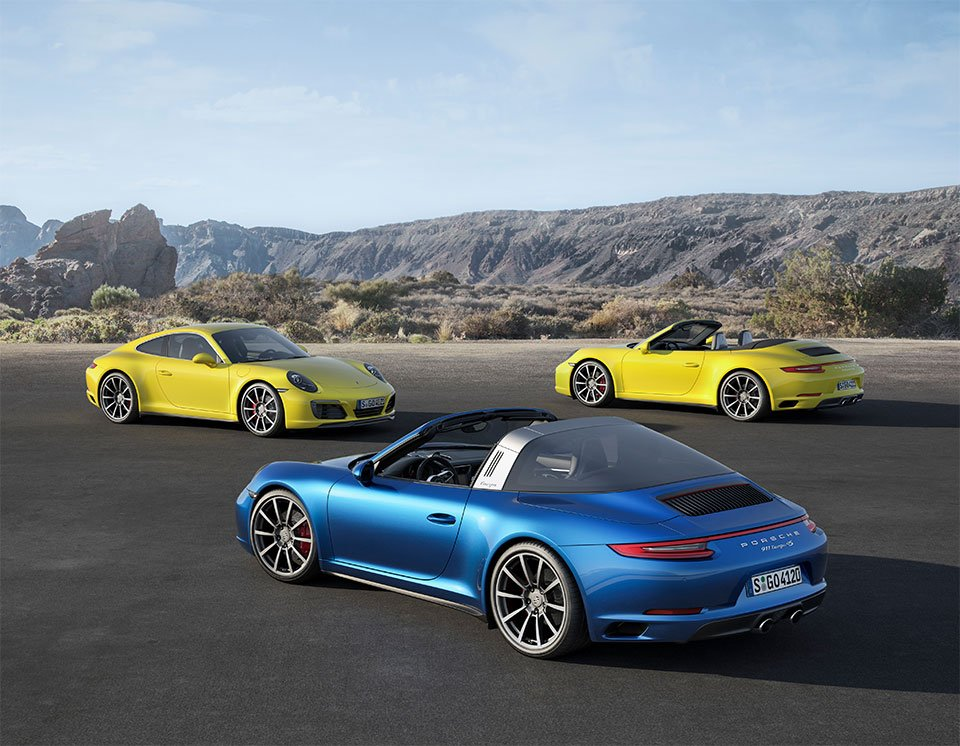 2017 Porsche 911 Carrera 4 and Targa 4 Pricing Announced