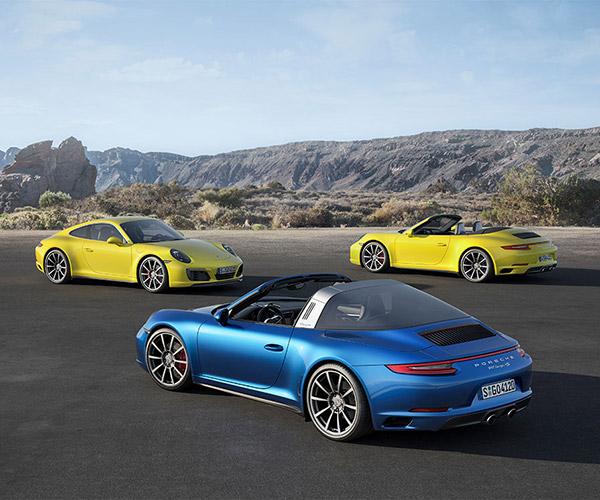 2017 Porsche 911 Carrera 4 and Targa 4 Pricing Announced