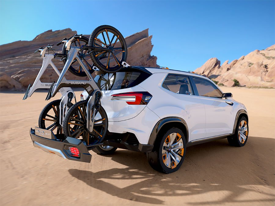 Subaru Viziv Future Concept Carries your Bikes Two Ways
