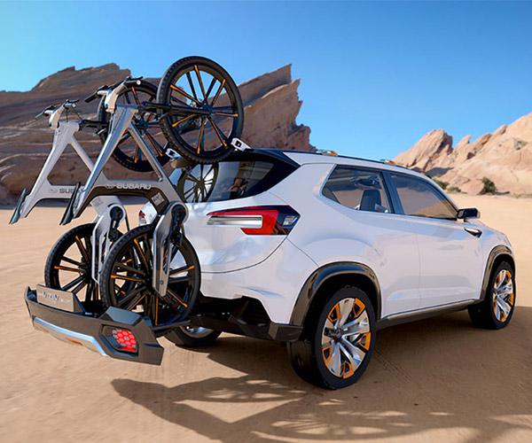Subaru Viziv Future Concept Carries your Bikes Two Ways