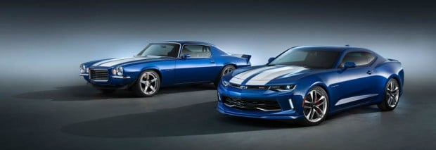 (L to R) 1970 Chevrolet Camaro RS with Supercharged LT4 and Cama