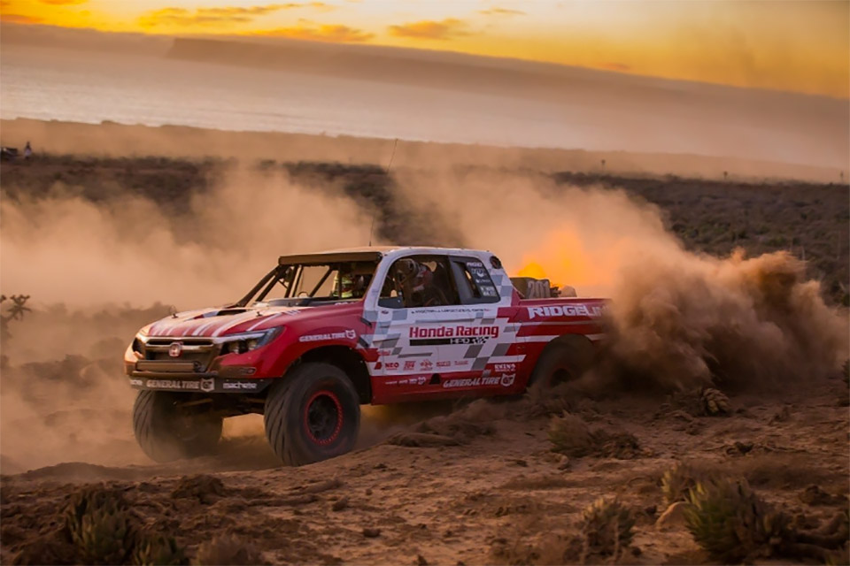 Honda Ridgeline Truck Finishes Baja 1000