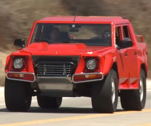 Jay Leno Checks out a Lamborghini LM002 SUV