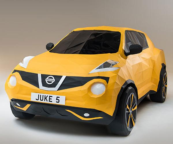Nissan Commissions Life-Size Papercraft Juke