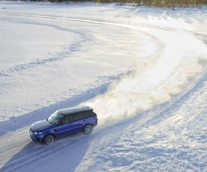 The Range Rover SVR Races Silverstone… on Ice