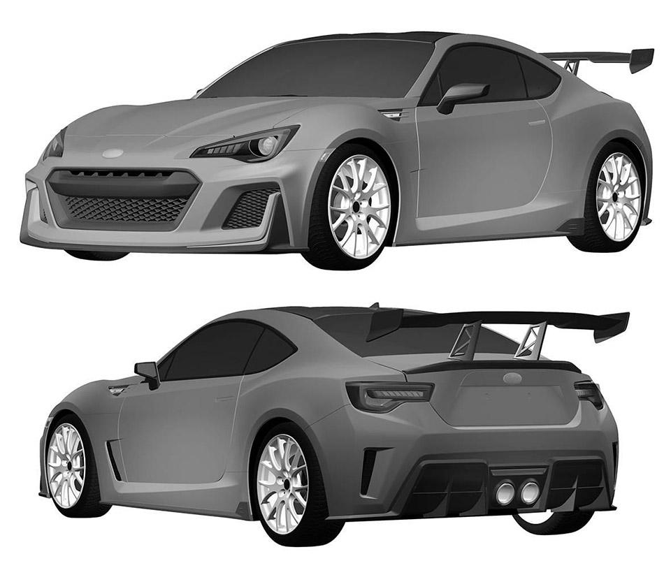 Toyota Patents Design Based on BRZ STI