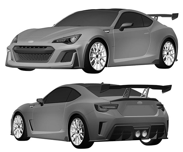 Toyota Patents Design Based on BRZ STI