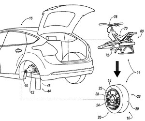 Ford Patents Unicycle That Borrows Your Car Tire