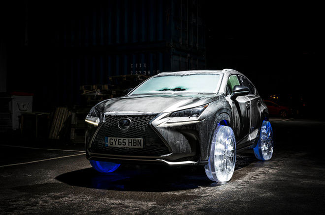 Lexus NX SUV Gets Wheels and Tires Made of Ice