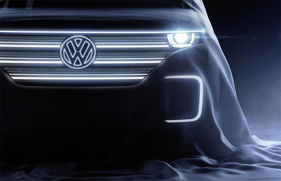 VW Teases Concept to Debut at CES 2016: Modern Microbus?!