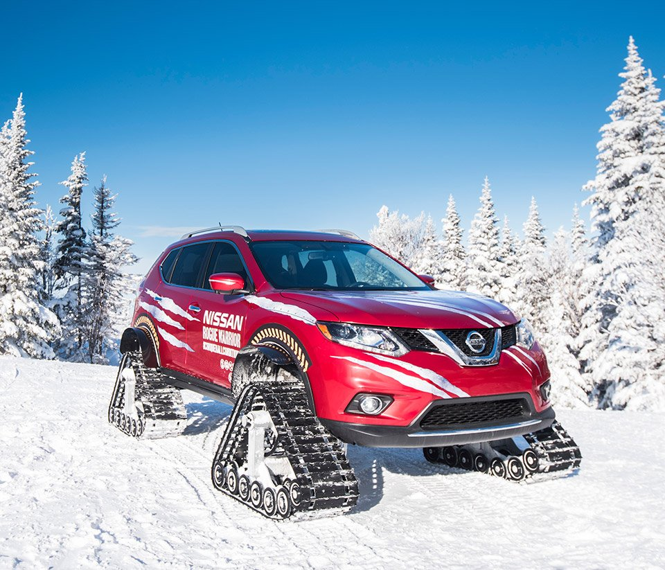 Nissan Rogue Warrior Laughs at Snowy Mountains