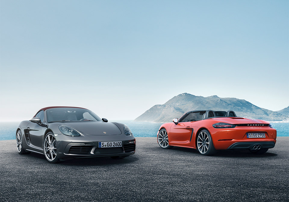 Porsche 718 Boxster and Boxster S Pack up to 350 Horses
