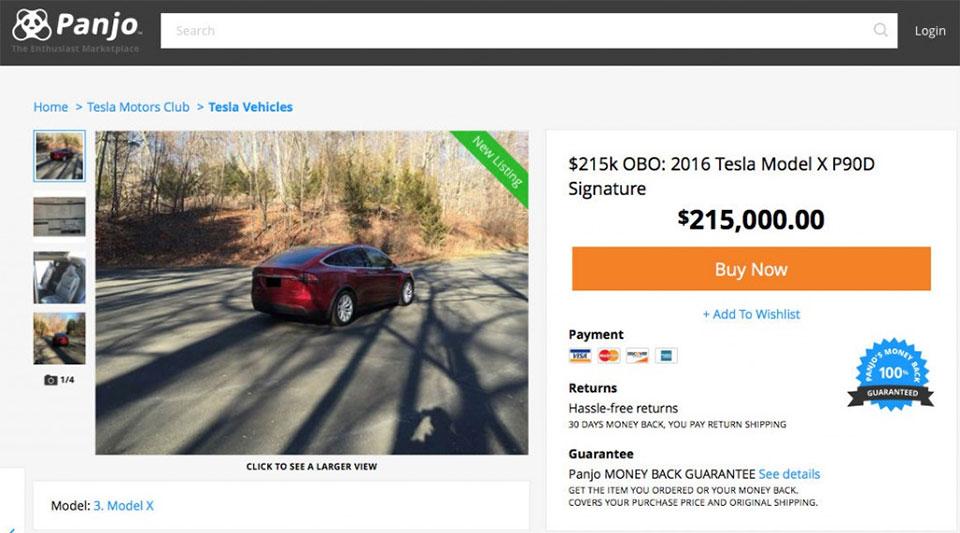 Tesla Seller Wants $215k for Used Model X