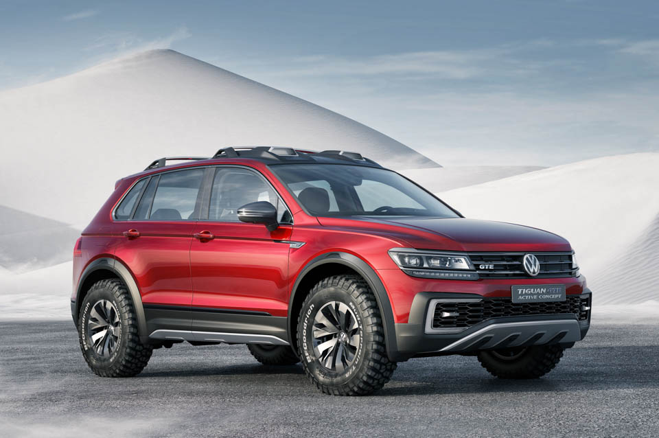 VW Tiguan GTE Active Concept is a Green Off-Roader