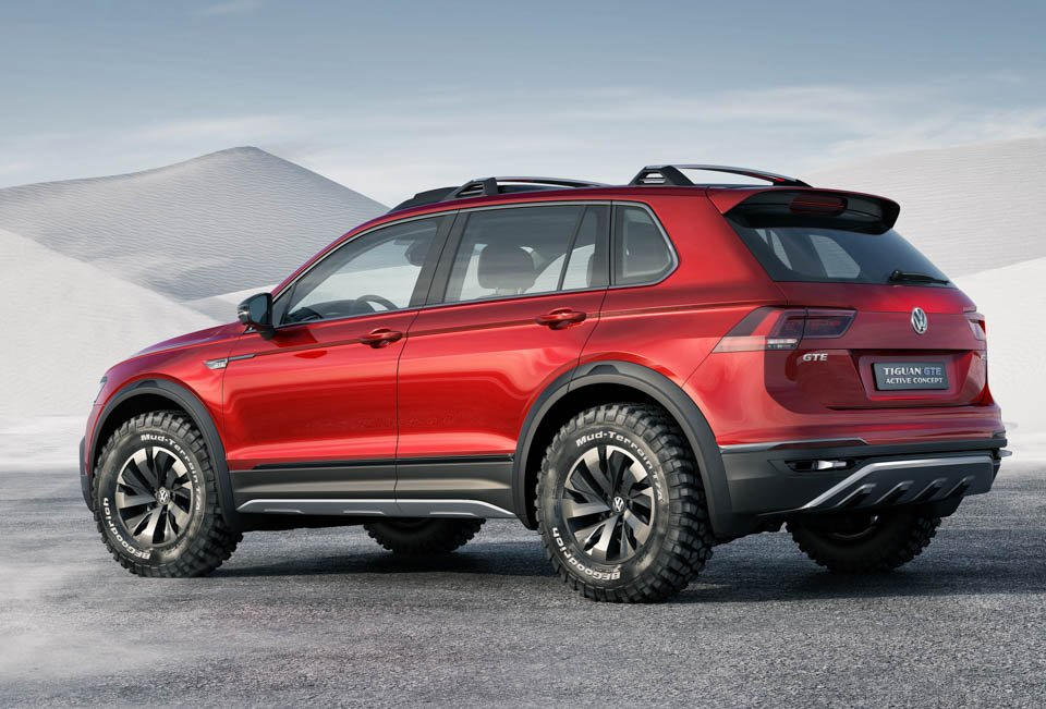 vw tiguan gte active concept is a green off roader 95 octane. Black Bedroom Furniture Sets. Home Design Ideas