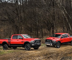 2017 Ram Power Wagon Crew Cab 4x4 (left) and 2017 Ram Rebel Crew Cab 4x4 (right)